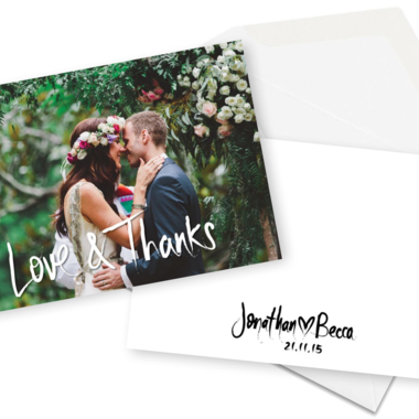 Thumb floral wedding thank you cards for the love of stationery
