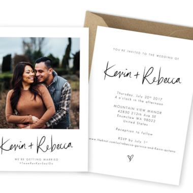 Thumb rustic wedding invitations with photos for the love of stationery