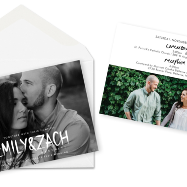 Thumb wedding invitations modern rustic for the love of stationery